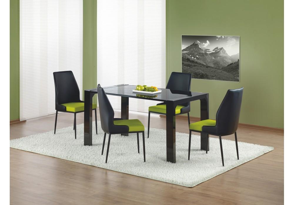 Стол обеденный HALMAR KEVIN стекло\черный, 140/80/76