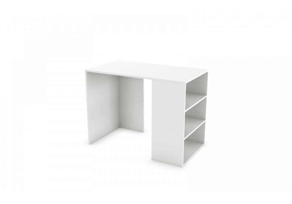 Стол компьютерный SV-МЕБЕЛЬ К №101 Белый Глянец