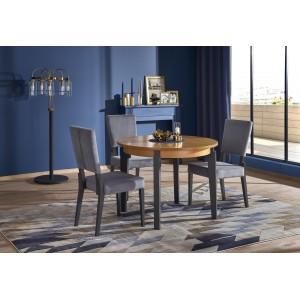 Стол обеденный HALMAR SORBUS раскладной, дуб медовый/графит, 100-200/100/77