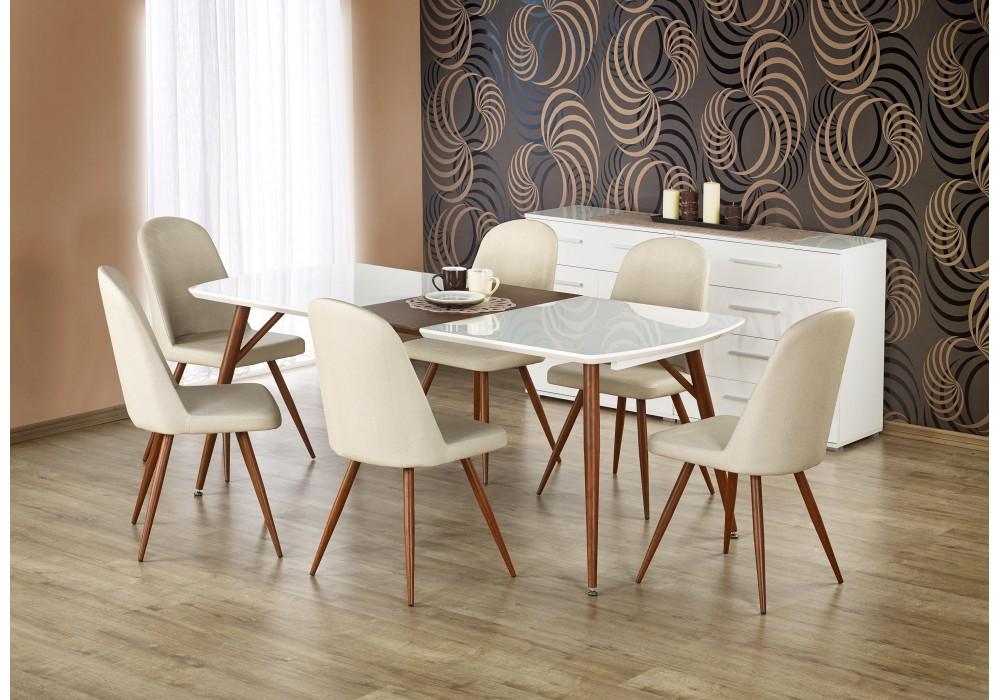 Стол обеденный Halmar RICHARD, раскладной (белый/античная черешня)