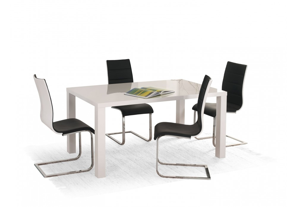 Стол обеденный HALMAR RONALD 120 белый, 120/80/75