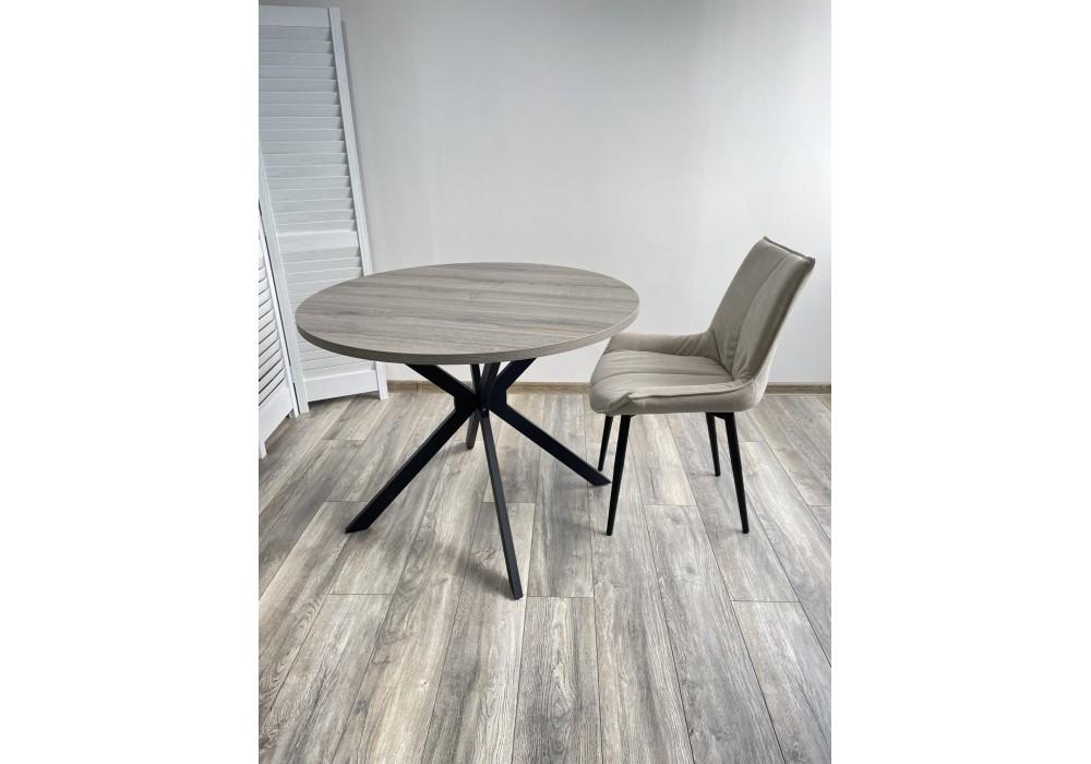 Стол VEGA D100 Дуб Шерман серый/ черный каркас