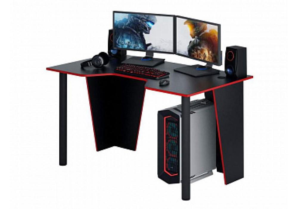 Стол игровой MFMaster Форсаж-2 (черный / красный)