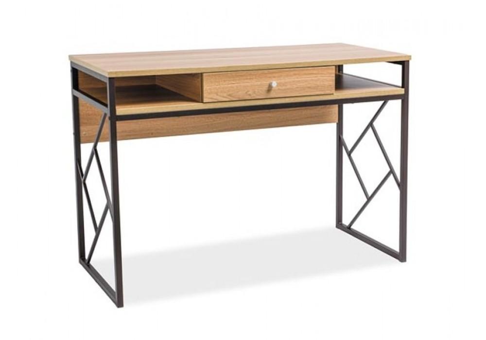 Стол компьютерный SIGNAL TABLO B дуб\т.коричневый, 110/48/76
