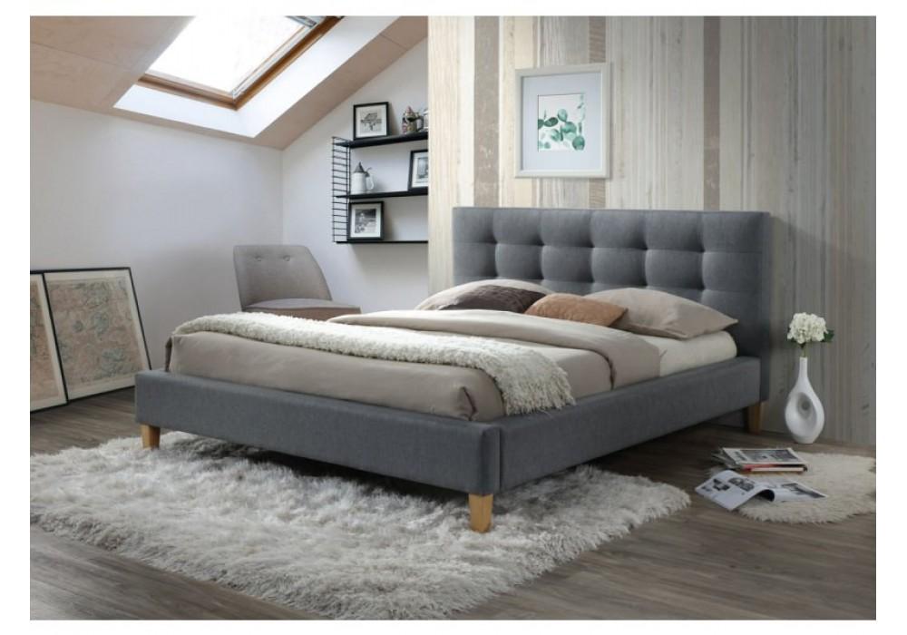 Кровать SIGNAL TEXAS серая 180/200