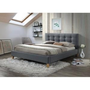 Кровать SIGNAL TEXAS серая 140/200