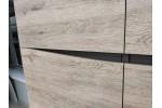 Кровать Тиана 1400 (Дуб Бонифаций / Вольфрам)   фабрика Браво Мебель