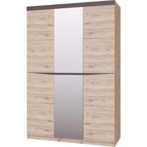 Шкаф трехдверный ШР-3 Тиана с зеркалом (Дуб Бонифаций / Вольфрам)   фабрика Браво Мебель