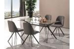 Стол обеденный SIGNAL TIVOLI серый, 160/90/76