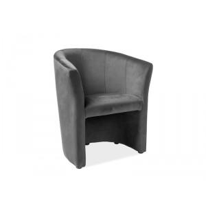 Кресло SIGNAL TM-1 VELVET Bluvel14, серый