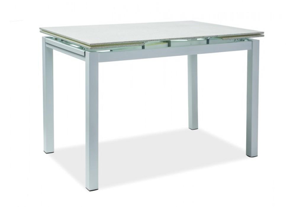 Стол обеденный SIGNAL TURIN 110 раскладной, белый 110-170/70/76