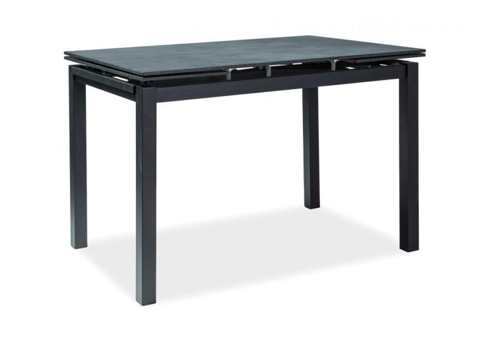 Стол обеденный SIGNAL TURIN 110 раскладной, черный 110-170/70/76