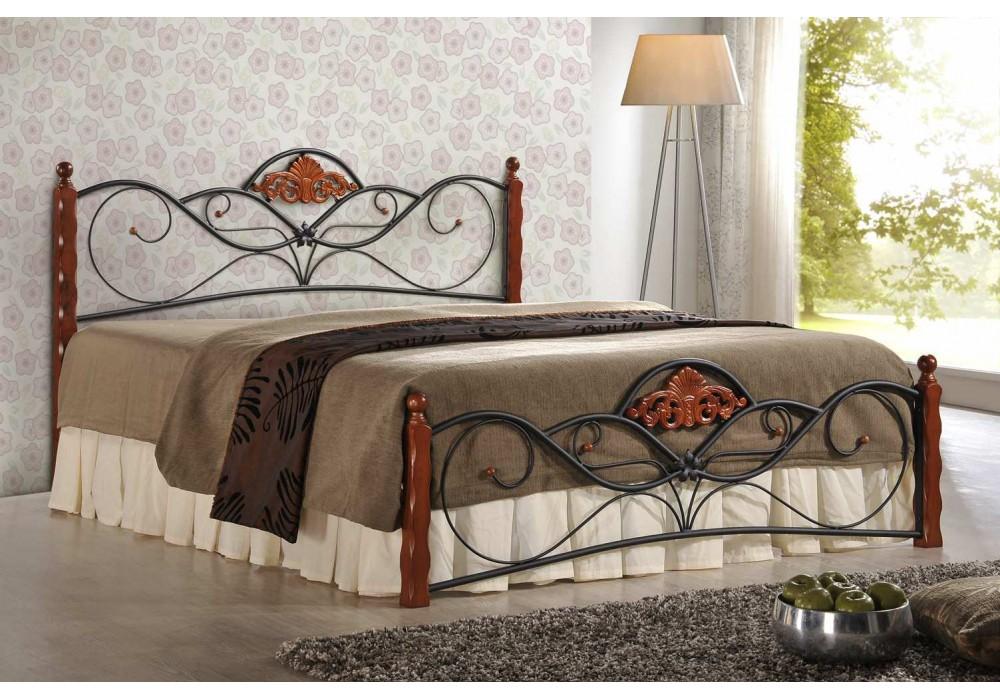Кровать HALMAR VALENTINA античная черешня