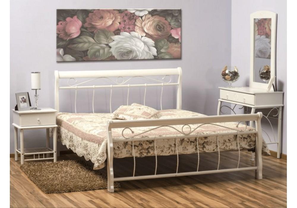 Кровать SIGNAL VENECJA бело\белая 120/200