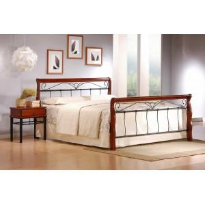 Кровать HALMAR VERONICA 160 cm античная черешня/черная