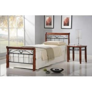 Кровать HALMAR VERONICA 90 cm античная черешня/черная