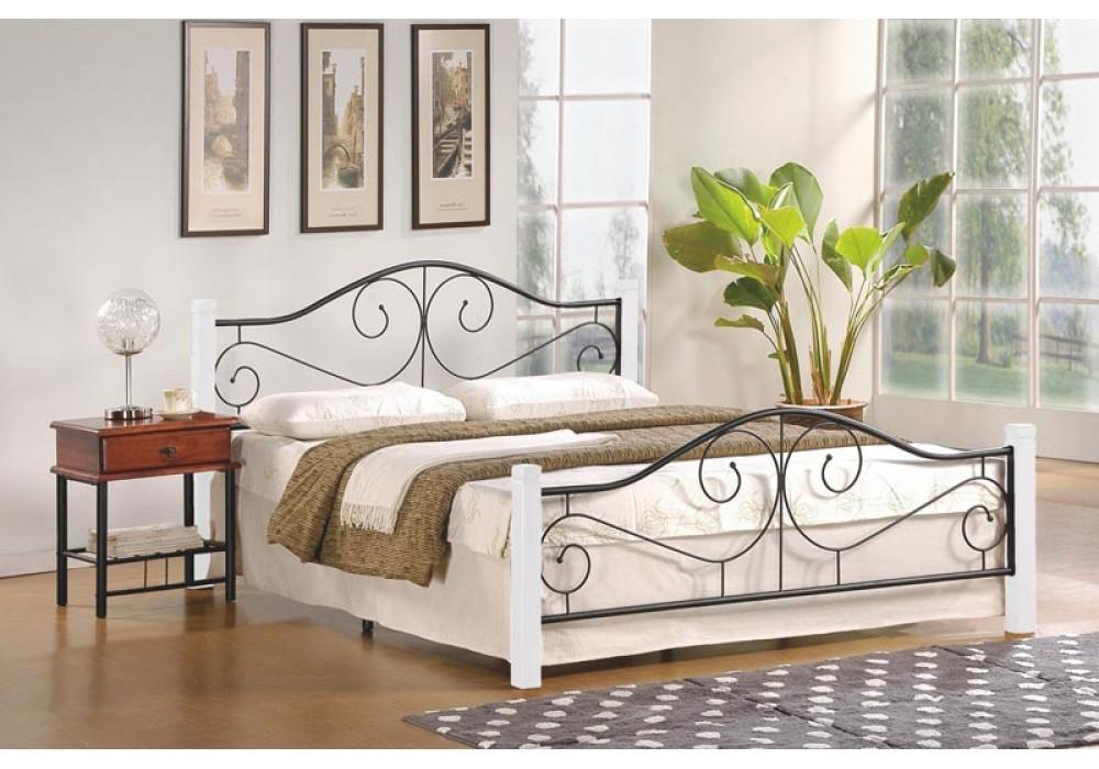 Кровать HALMAR VIOLETTA 160 бело\черная