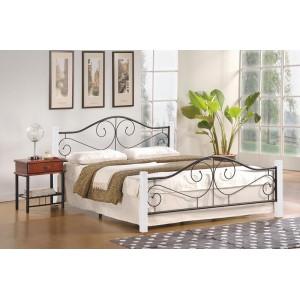 Кровать HALMAR VIOLETTA 120 бело\черная