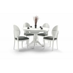 Стол обеденный HALMAR WILLIAM раскладной, белый, 90-124/90/75