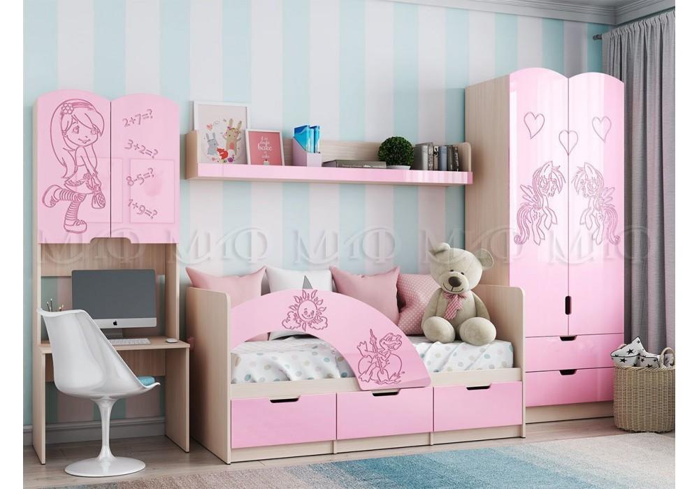 """Детская МС """"Юниор-3"""" розовый металлик"""