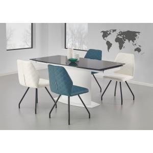 Стол обеденный Halmar ANDERSON, раскладной (бело-черный)