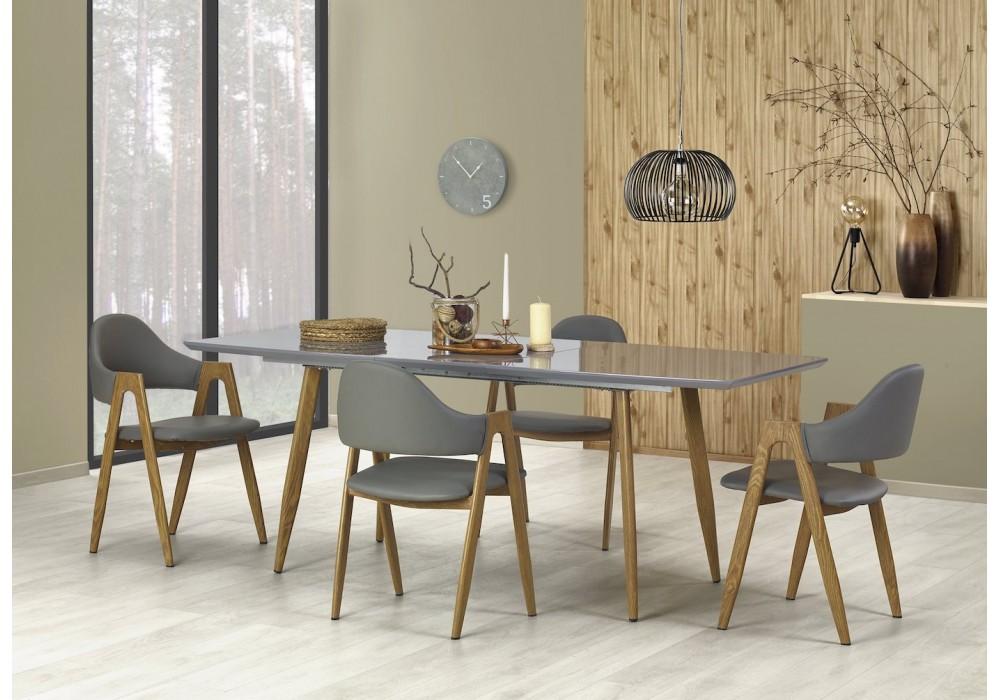 Стол обеденный Halmar RUTEN, раскладной (серый/дуб медовый)