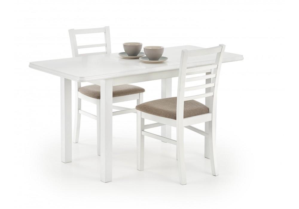 Стол обеденный Halmar DINNER 120/158 раскладной (белый)