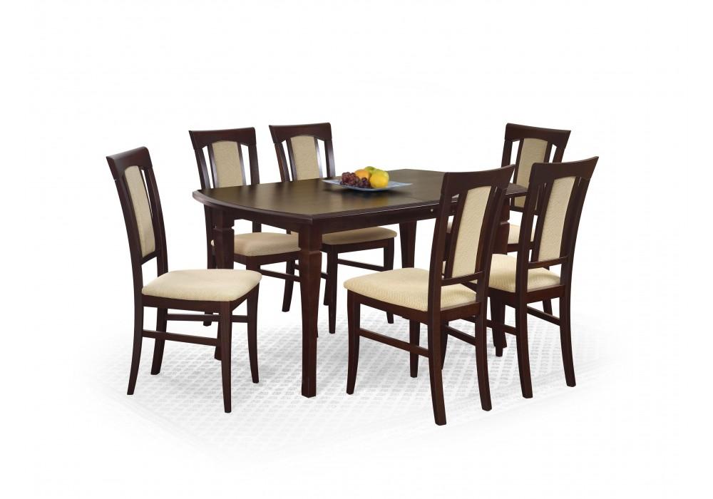 Стол обеденный Halmar FRYDERYK 160/240 (темный орех)