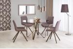 Стол обеденный Halmar LUNGO (коричневый/античное золото)