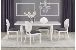 Стол обеденный Halmar MOZART 140, раскладной (белый лак)