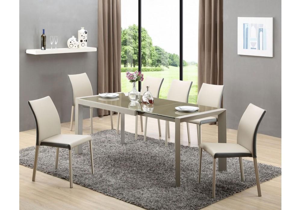 Стол обеденный Halmar ARABIS, раскладной (св.коричневый/бежевый)