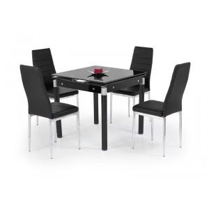 Стол обеденный HALMAR KENT раскладной, черный\черный, 80-130/80/76