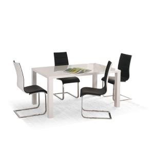 Стол обеденный Halmar RONALD 120/160, раскладной (белый)