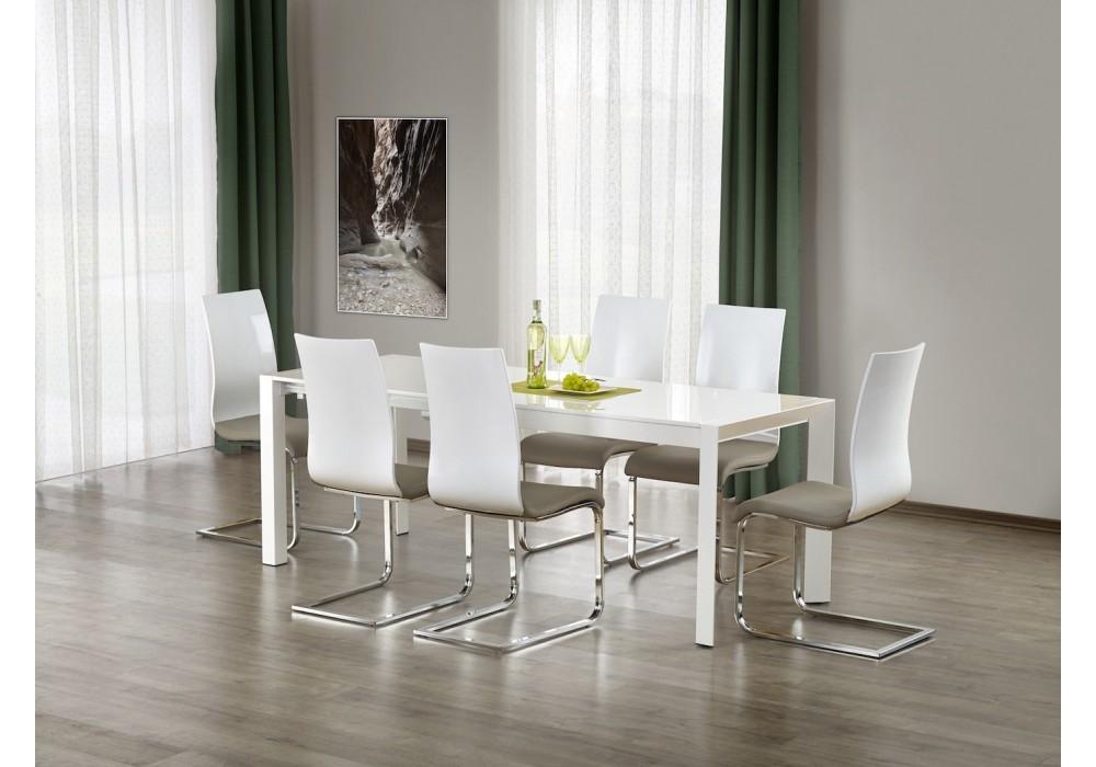 Стол обеденный Halmar STANFORD XL, раскладной (белый)