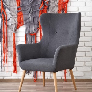 Кресло Halmar COTTO темно-серый