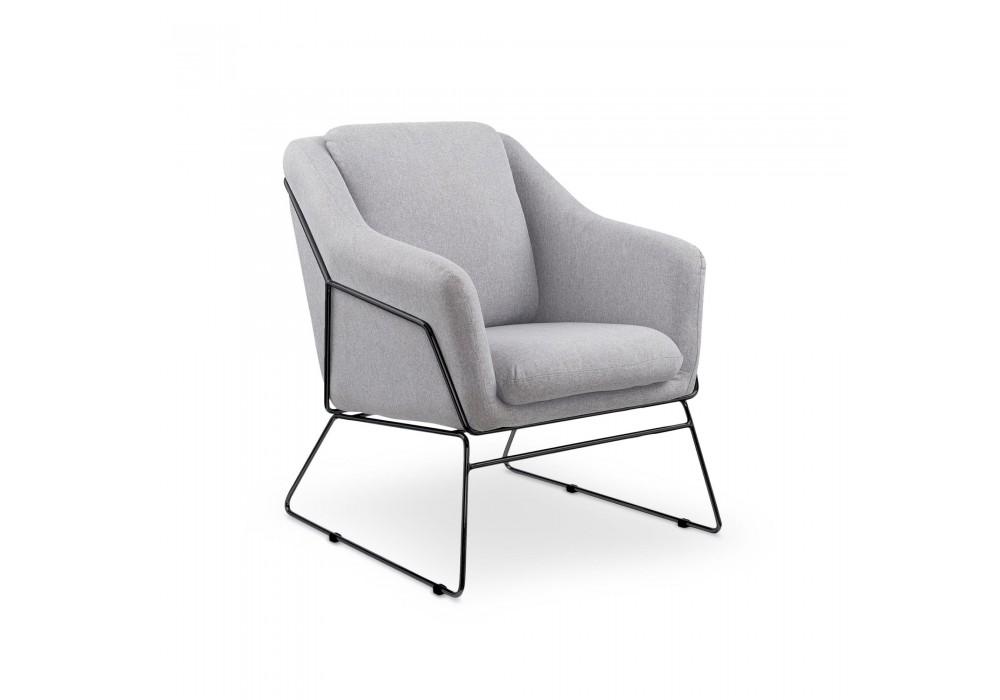 Кресло Halmar SOFT 2 (серый/черный)