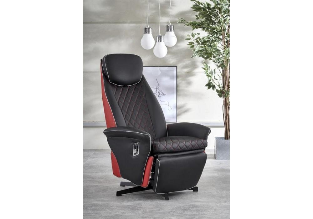 Кресло Halmar CAMARO (черный/красный)