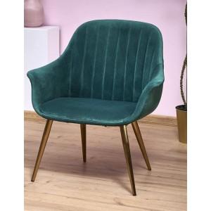 Кресло Halmar ELEGANCE 2 (темно-зеленый/золотой)