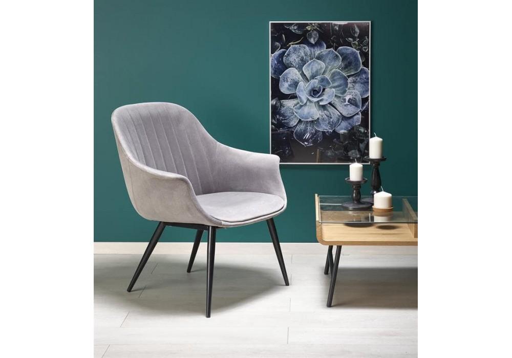 Кресло Halmar ELEGANCE (серый/черный)