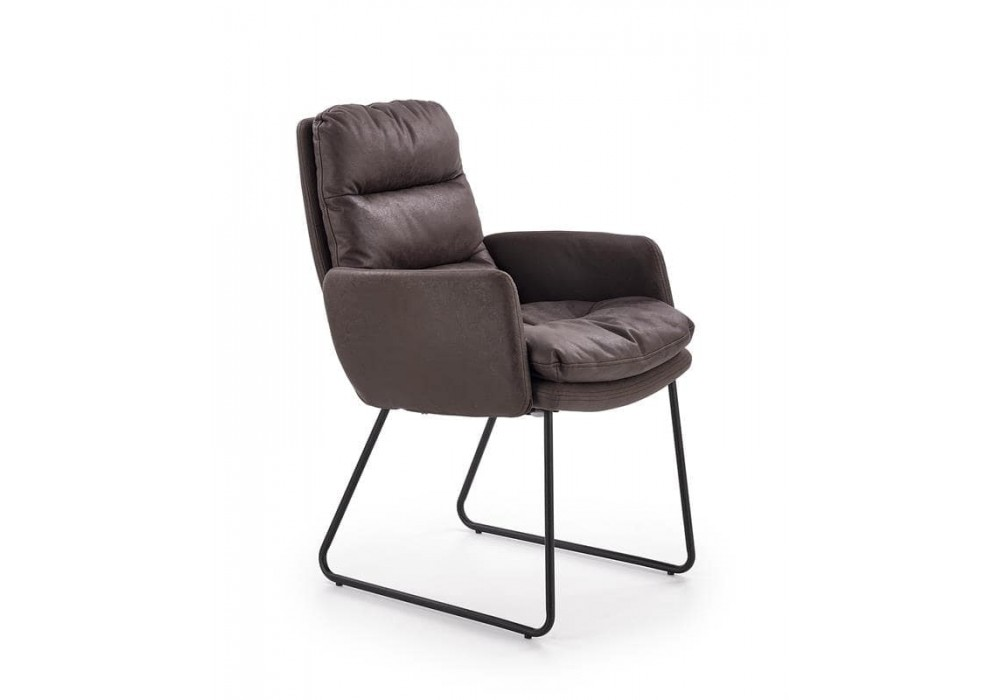 Кресло Halmar FASSI (темно-серый/черный)